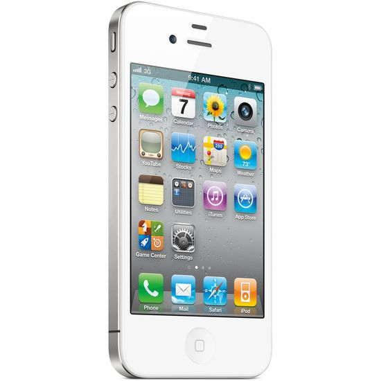 Apple iPhone 4 8GB bílá + Tlampač bílý