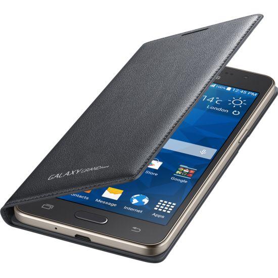 Samsung flipové pouzdro s kapsou EF-WG530BS pro Galaxy Grand Prime, šedé