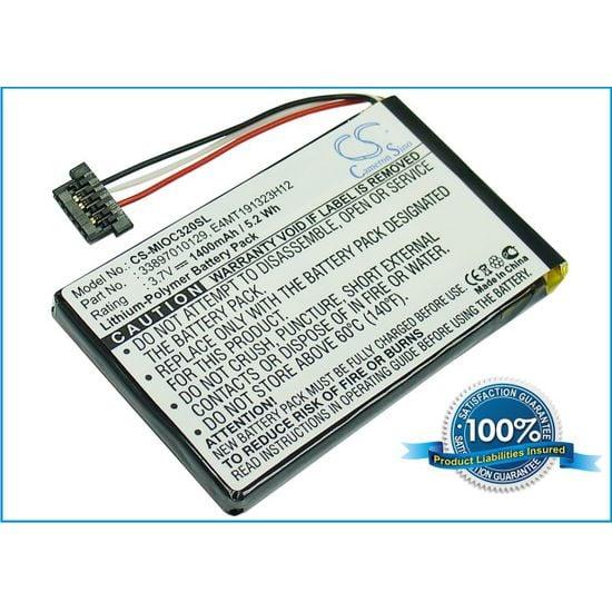 Baterie náhradní pro Mio C720bt, Li-pol 3,7V 1400mAh