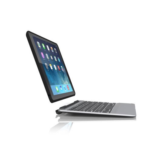 ZAGG Slim Book Case with Keyboard - Apple iPad Air 2 - Black-CZ