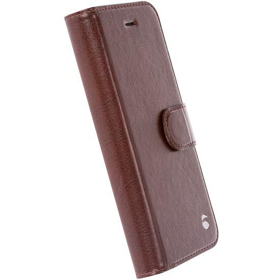 Krusell EKERÖ flipové pouzdro s peněženkou na Apple iPhone 7 kávové