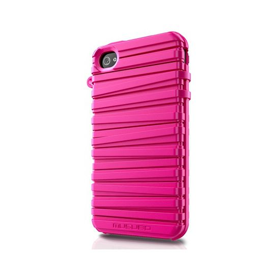Musubo pouzdro Rubber Band pro Apple iPhone 4/4S - neon magenta