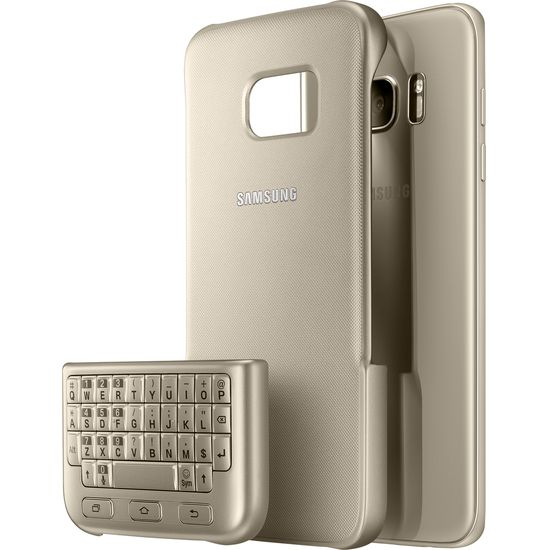 Samsung ochranný zadní kryt s klávesnicí EJ-CG935UF pro Galaxy S7 edge, zlatý