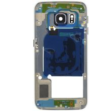 Náhradní díl Střední Díl na Samsung G925 Galaxy S6 Edge, modrá