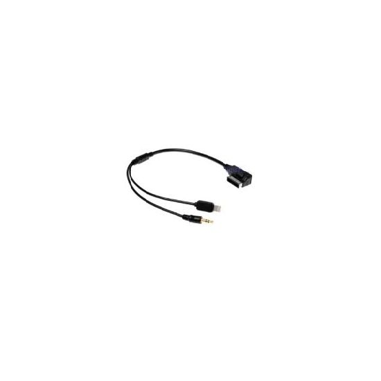 VW Music Audi MDI AMI MMI AUX 3,5mm jack a Lightning konektor na iPhone 5 5s 6 plus, kabel