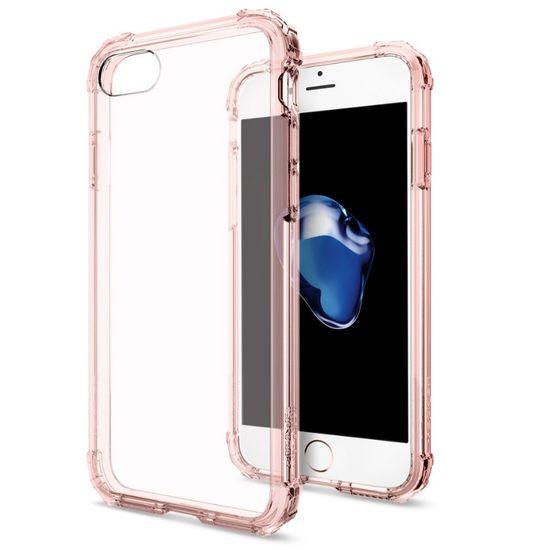 Spigen ochranný kryt Crystal Shell pro iPhone 7, průhledná-růžová