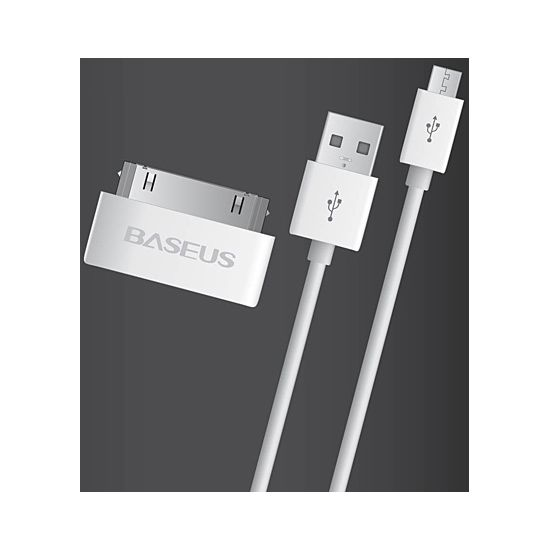 Kabel USB - micro USB s adaptérem na Apple 30pin (kabel USB - Apple 30pin)