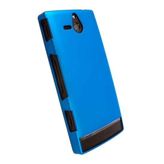 Krusell hard case - ColorCover - Sony Xperia U  (modrá metalíza)