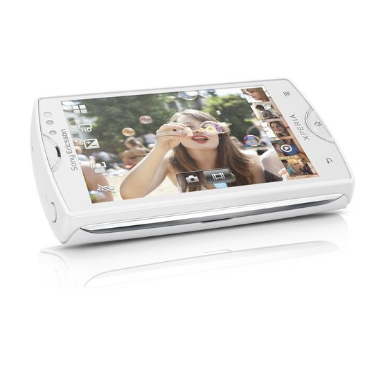 Sony Ericsson Xperia mini - bílá + fólie na displej InvisibleShield