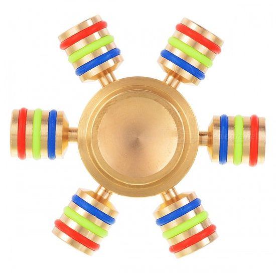 Antistresový fidget spinner, mosazný