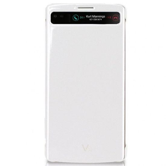 LG flipové pouzdro QuickCircle CFV-140 pro LG V10, bílé