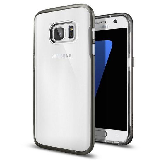 Spigen Neo Hybrid Crystal ochranný kryt pro Samsung Galaxy S7 Edge šedý