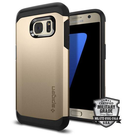 Spigen pouzdro Tough Armor pro Galaxy S7, zlaté