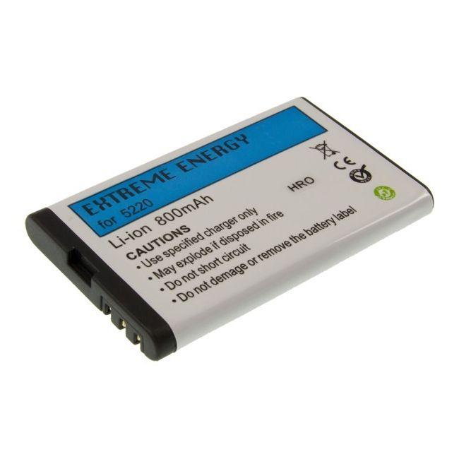 Baterie náhradní (ekv. BL-5CT) pro Nokia C3-01/C5-00/C6-01/6303/6303i/3720 Li-ion, 800mAh