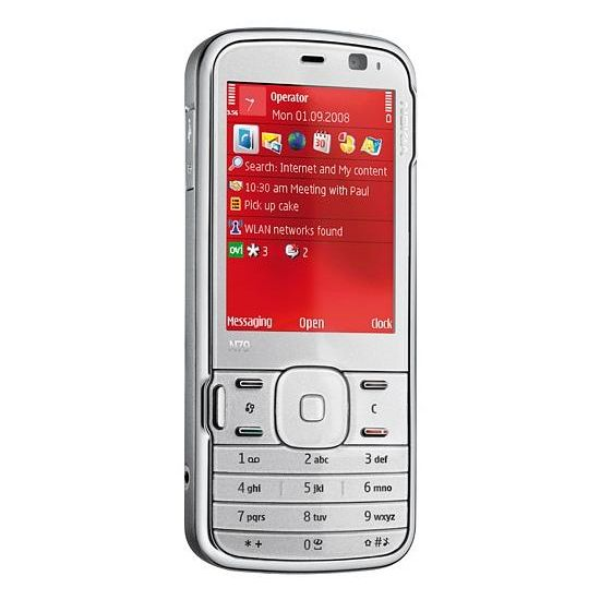 NOKIA N79 Grey-Brown/White/Red + 4GB + fólie Brando na displej