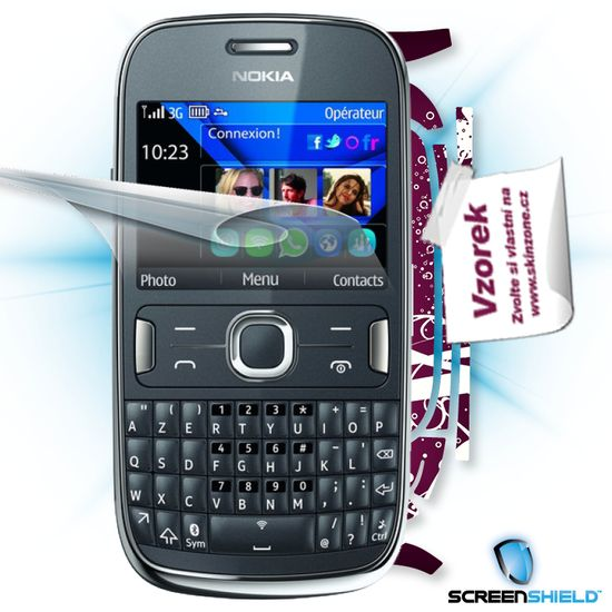Fólie ScreenShield Nokia Asha 302 - displej+voucher na skin