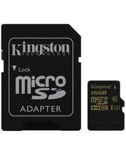 Kingston paměťová karta microSDHC 16GB Class U3 (90R/45W) + SD adaptér