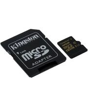 Kingston paměťová karta microSDHC 32GB Class U3 (90R/45W) + SD adaptér