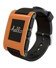Pebble - chytré hodinky pro iOS a Android - oranžové