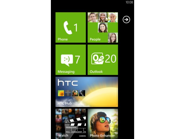 obsah balení HTC Radar + miniaturní kapacitní stylus černý