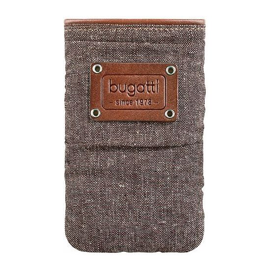 Bugatti Elements Patch slim case universal M (73 x 125mm) - hnědé