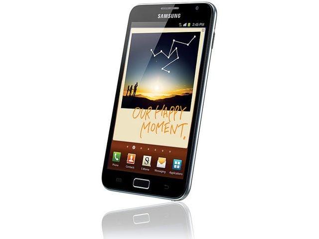 obsah balení Samsung Galaxy Note + originální pouzdro Samsung černé