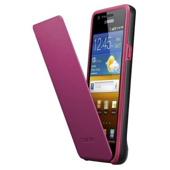 Samsung pouzdro flip EF-C1A2B pro Samsung Galaxy S II (i9100), černá/růžová