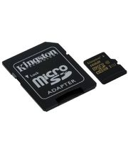 Kingston microSDXC 16GB Class 10/UHS-I, zápis 45MB/s + SD adaptér