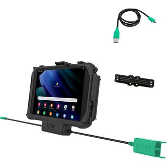 RAM Mounts EZ Roll'r Dual USB Cradle for Samsung Tab Active3 and Tab Active2