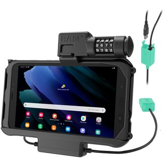 RAM Mounts Combo Locking Power + Dual USB Dock for Tab Active3 and Tab Active2