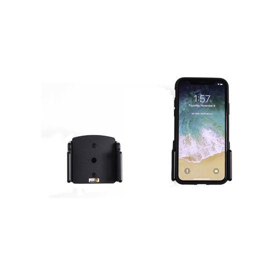 Brodit držák do auta na Apple iPhone X v pouzdru, bez nabíjení, nastavitelný .š.70-83mm,tl.2-10mm
