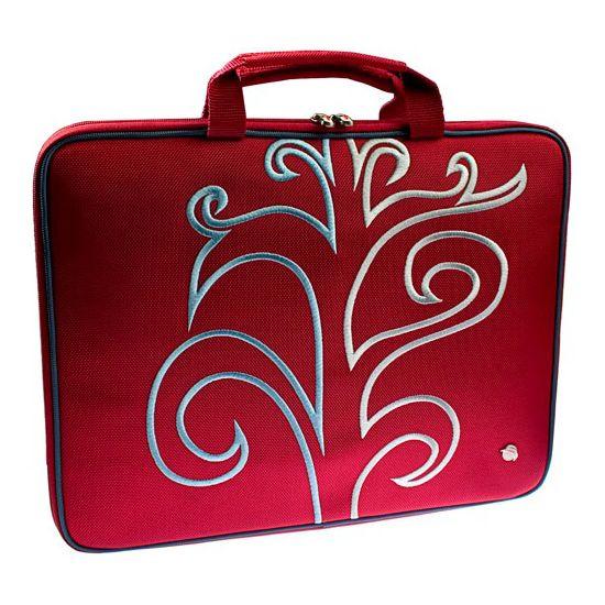"""Krusell Radical Laptop Slim taška na notebook - do 16"""" - červená"""