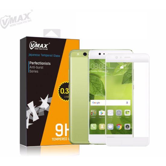 VMAX 9H 0,33mm tvrzené sklo pro Huawei P10 Lite, ochranné sklo na displej, zahnuté, bílé