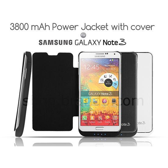 Brando pouzdro s baterií pro Samsung Galaxy Note 3, 3800mAh, bílá