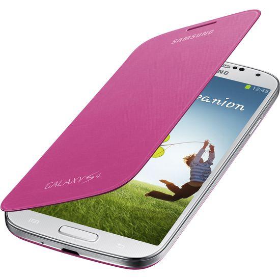 Samsung flipové pouzdro EF-FI950BP pro Galaxy S4 (i9505), růžové
