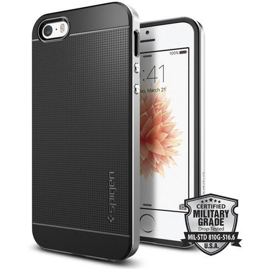 Spigen Neo Hybrid ochranný kryt pro iPhone SE/5s/5 stříbrný