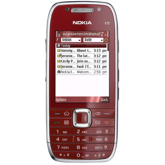 NOKIA E75 Red 4GB + Krusell pouzdro Orbit flex