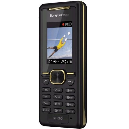 Sony Ericsson K330i Gold on Black