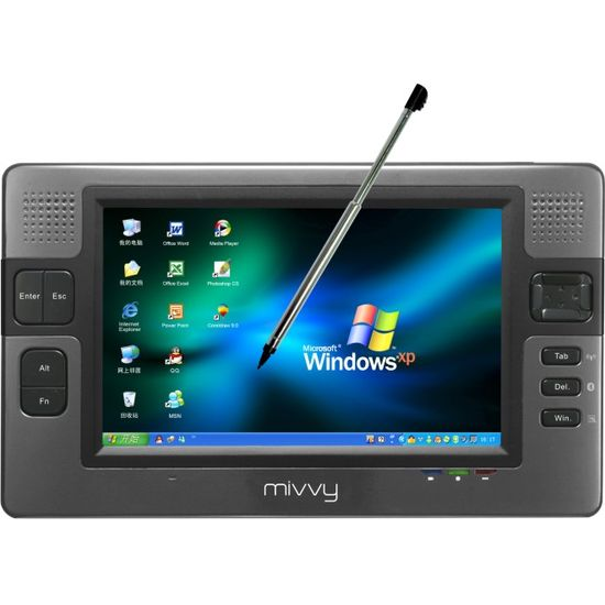"mivvy UMPC UM570 7"" VIA 1,2/WIFI/BT/60GB/2GB RAM/1,3Mpx"