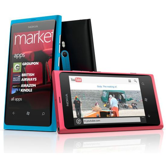 Nokia Lumia 800 Cyan (Blue), 16GB + Krusell pouzdro Orbit flex