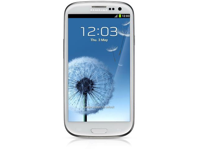 obsah balení Samsung Galaxy S III Marble White + Pouzdro Flip Top