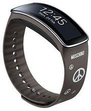 Samsung výměnný pásek ET-SR350RS pro Gear Fit - speciální edice, Mocha Gray + Silver Peace