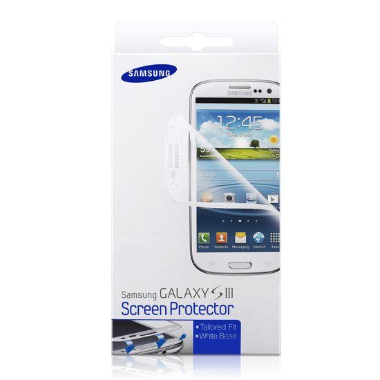 Samsung ochranná fólie na displej ETC-G1G6W pro Galaxy S III (i9300), bílá