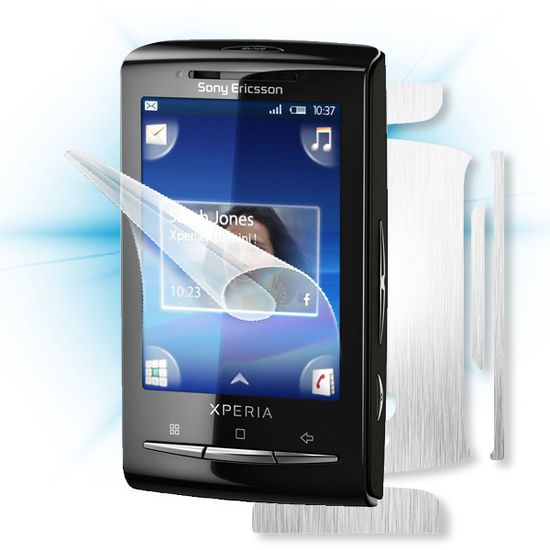 Fólie ScreenShield Sony Ericsson Xperia mini - displej + carbon stříbrná