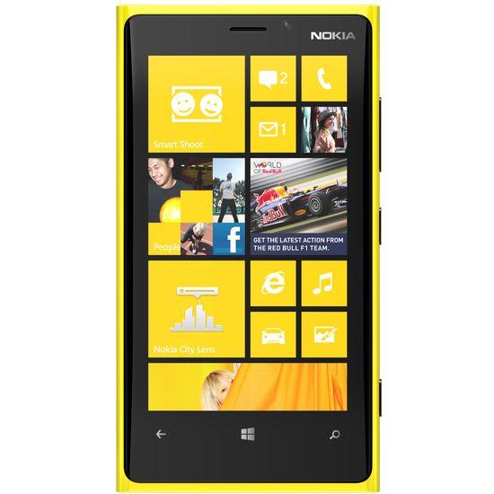 Nokia Lumia 920 žlutá + držák Brodit bez nabíjení