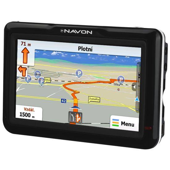 """Navon N470, mapy 43 zemí Evropy, 3D budovy, displej 4,3"""", iGO Amigo"""