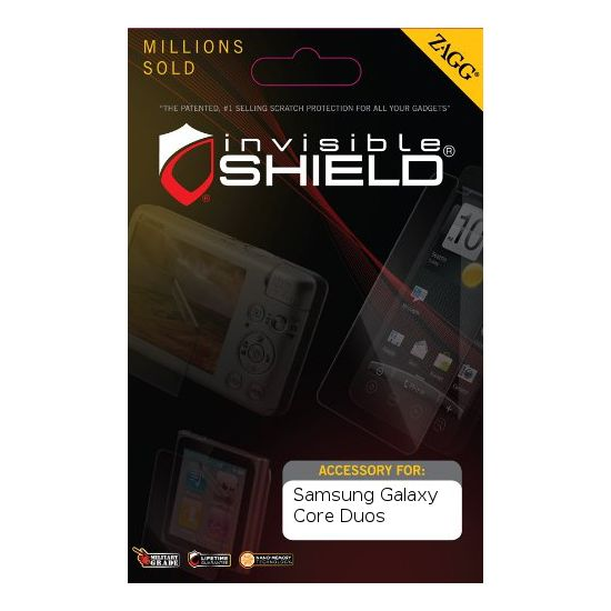 invisibleSHIELD pro Samsung Galaxy Core Duos - display