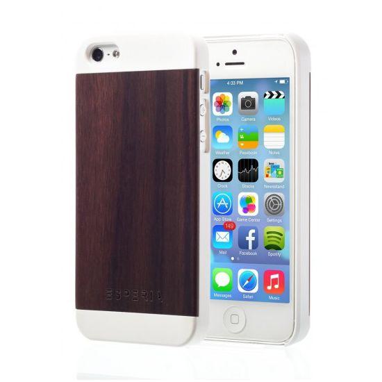 Esperia Evoque White Ořech kryt pro iPhone 5/5S
