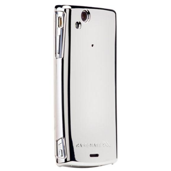 Case Mate pouzdro pro Sony Ericsson Xperia Arc Barely There Metallic Silver