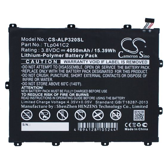 Baterie pro Alcatel One Touch POP 8 (ekv.TLp041C2) 4050mAh, Li-pol